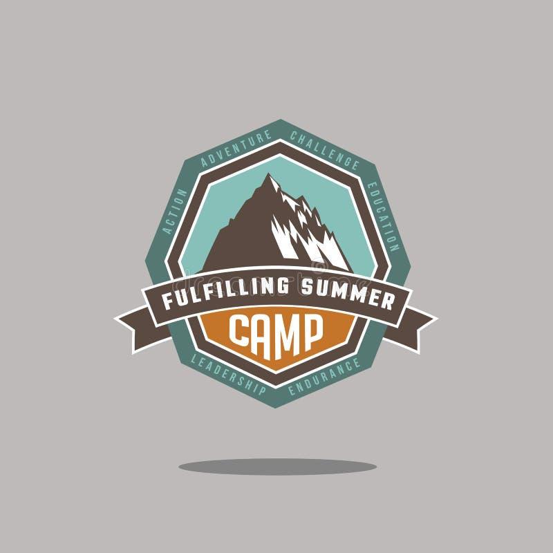 Góry ikony EPS 10 obozowy wektor royalty ilustracja