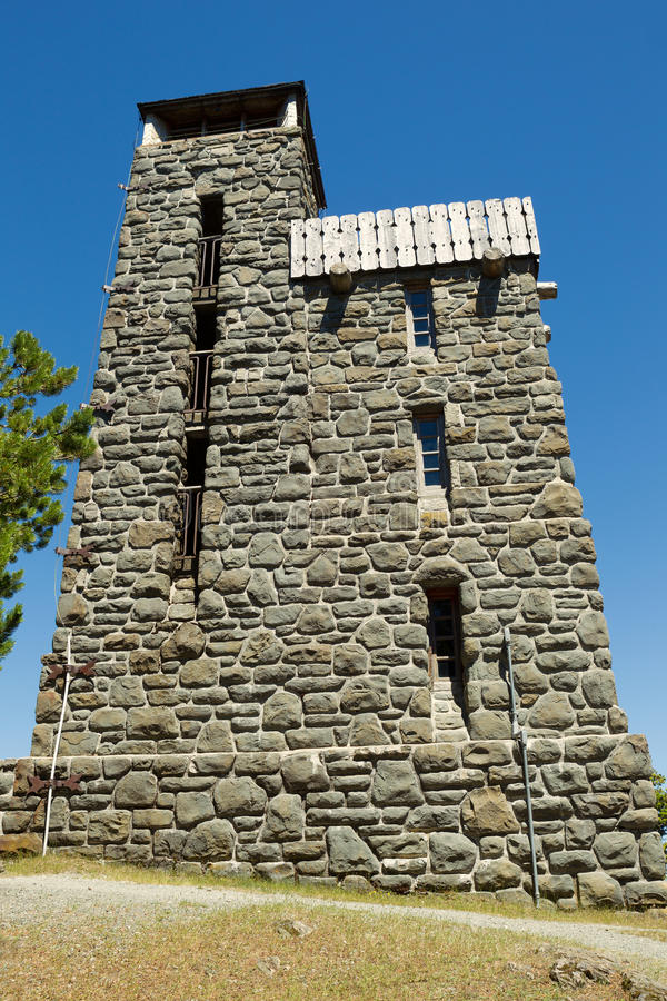 Góry konstytuci szczytu budynek przy Moran stanu parkiem w Washin zdjęcia royalty free