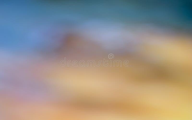 Góry krajobrazowy Abstrakcjonistyczny kolorowy zamazany tło zdjęcia stock