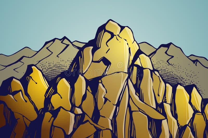 Góry krajobrazowy tło ilustracji