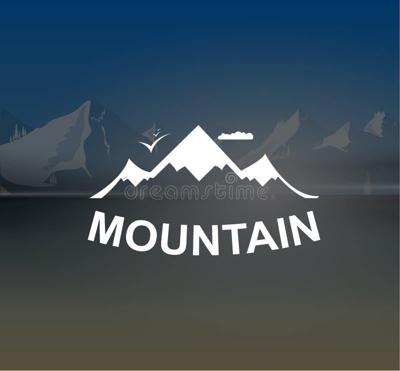 Góry kształtują teren retro wektorowego tło royalty ilustracja
