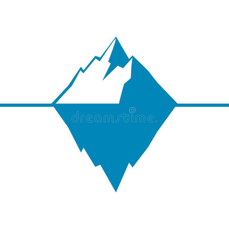 Góry lodowa ikona odizolowywająca na białym tle Lodowej góry lodowa ikona ilustracji