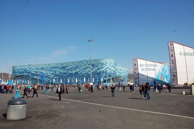 Góry lodowa stadium Olimpijski park przy zim olimpiadami Sochi XXII zdjęcia stock