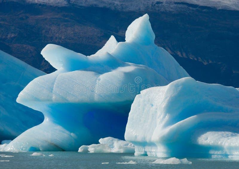 Góry lodowa w wodzie lodowiec Perito Moreno Argentyna obraz stock