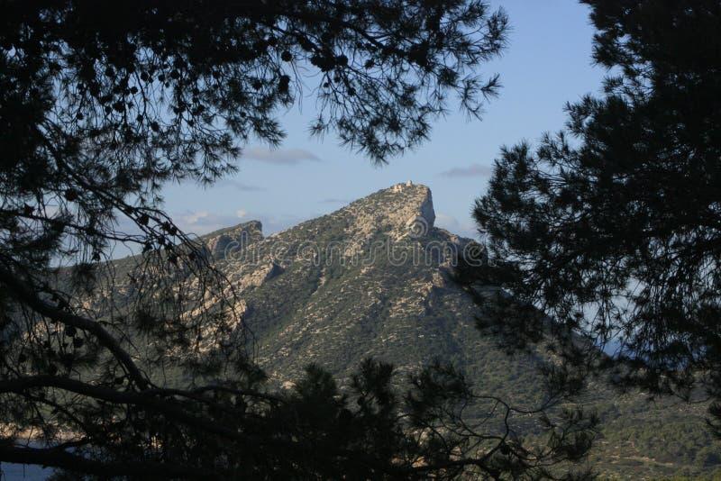 Góry Mallorca na dniu fotografia royalty free