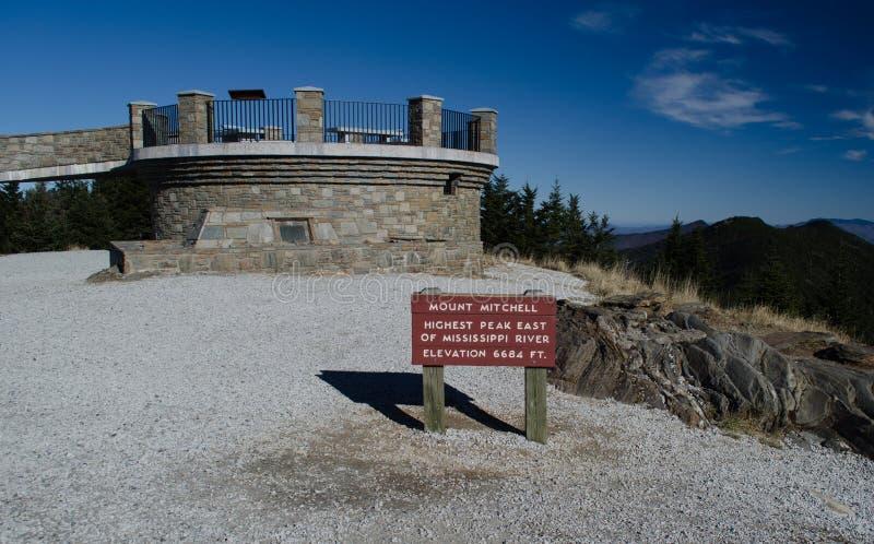Góry Mitchell obserwaci wierza fotografia stock