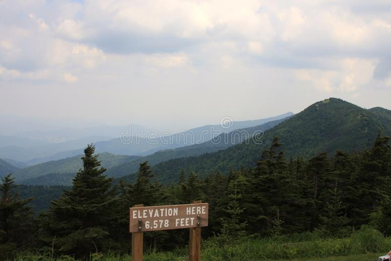 Góry Mitchell stanu parka szczyt obrazy stock