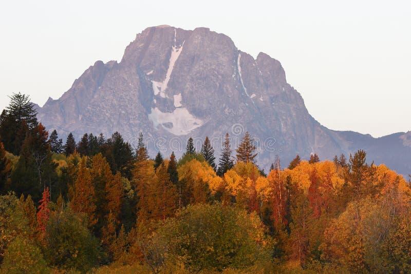 Góry Moran ranek obrazy stock