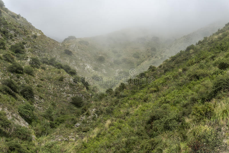 Góry na których mgła fotografia stock