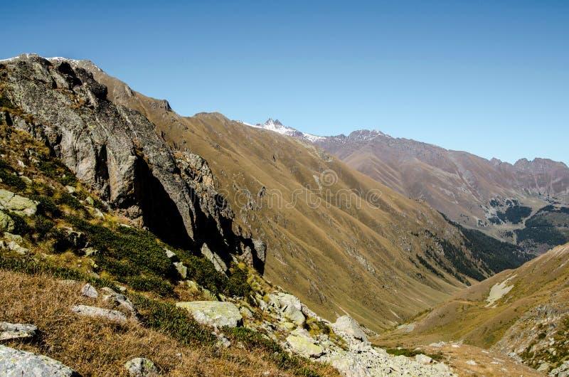 Góry, natura, werteks, turystyka fotografia stock