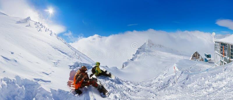 Góry ośrodek narciarski Kaprun Austria obraz stock