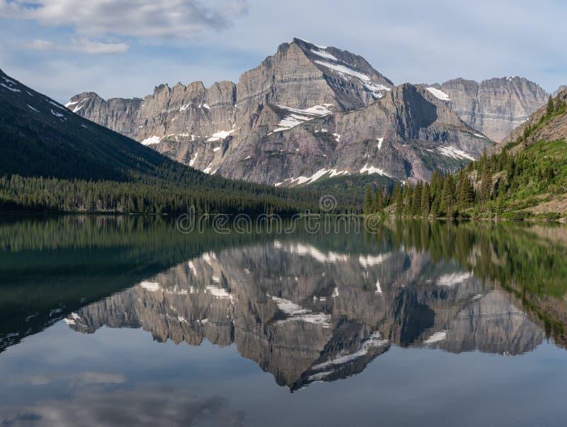 Góry Odbija W Jeziornym Josephine zdjęcia royalty free