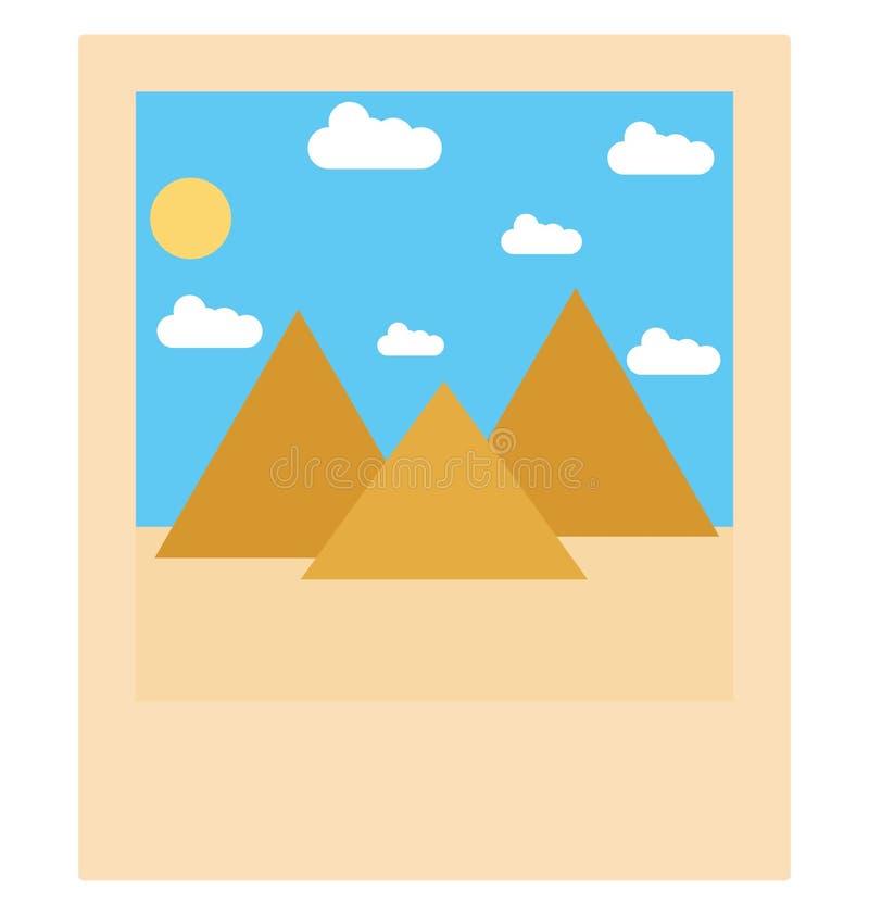 Góry odizolowywali wektorową ikonę która może być łatwo redaguje lub modyfikuje royalty ilustracja