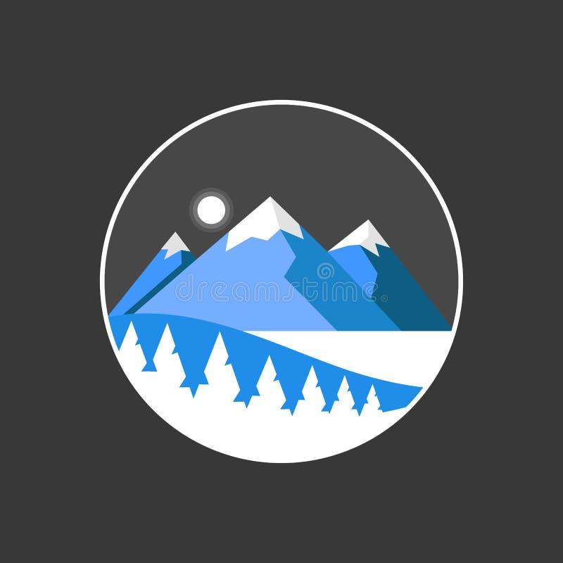 Góry odosobniona wektorowa ilustracja Podróży zastosowania ikona ilustracja wektor