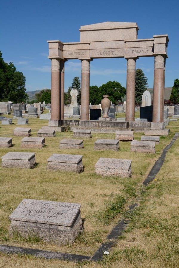 Góry Olivet cmentarz obraz royalty free