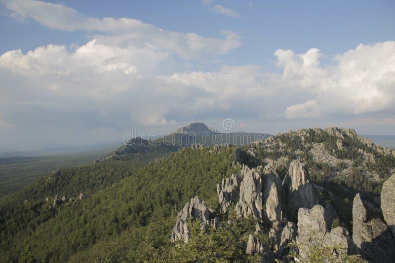 Góry, park narodowy Taganay, południowi Urals zdjęcie royalty free