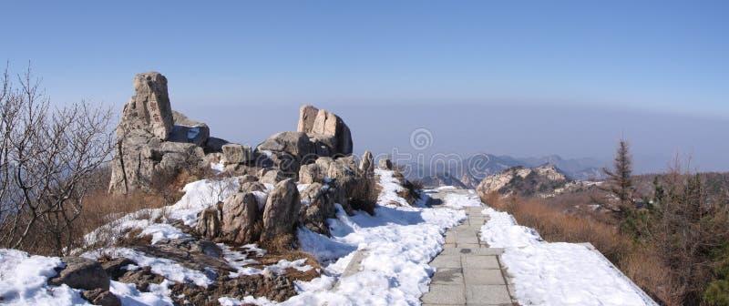 góry plateau Shandong taishan wierzchołek obrazy royalty free