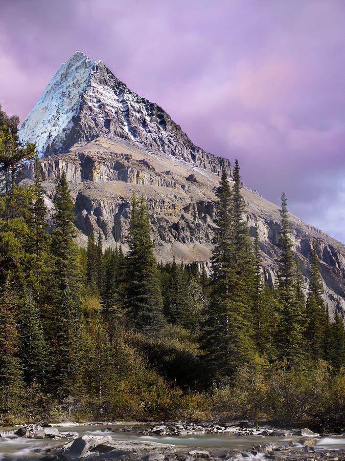 Góry Robson park, Kanada zdjęcia stock