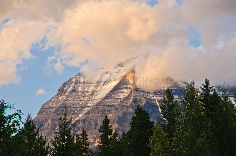 Góry Robson zmierzch obraz stock