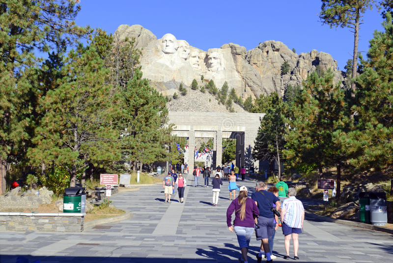 Góry Rushmore Krajowy pomnik, Czarni wzgórza, Południowy Dakota, usa fotografia royalty free