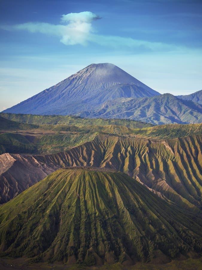 Góry Semeru wulkan w Jawa, Indonezja fotografia royalty free