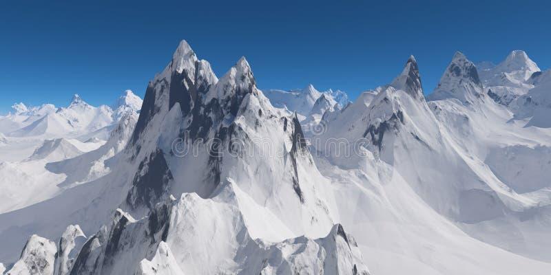 góry snowcovered obrazy stock