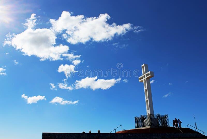 Góry Soledad krzyża zabytek, San Diego obraz royalty free