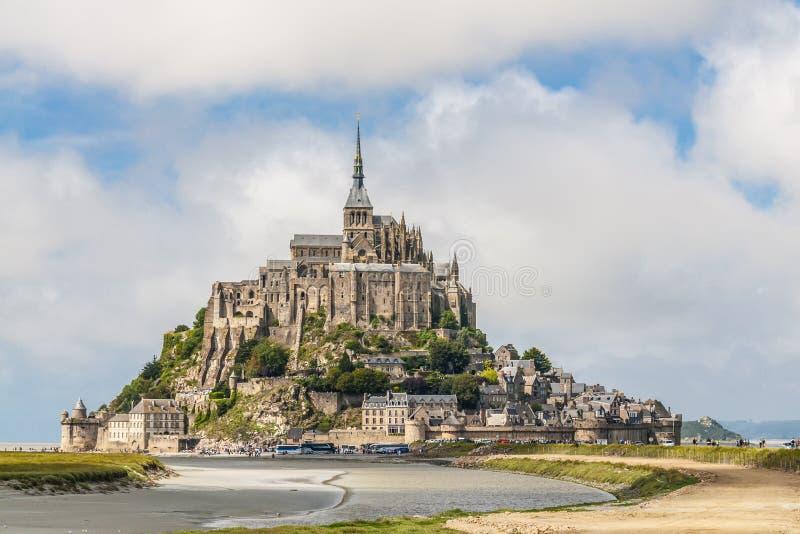 Góry St Michel w Normandy obraz royalty free