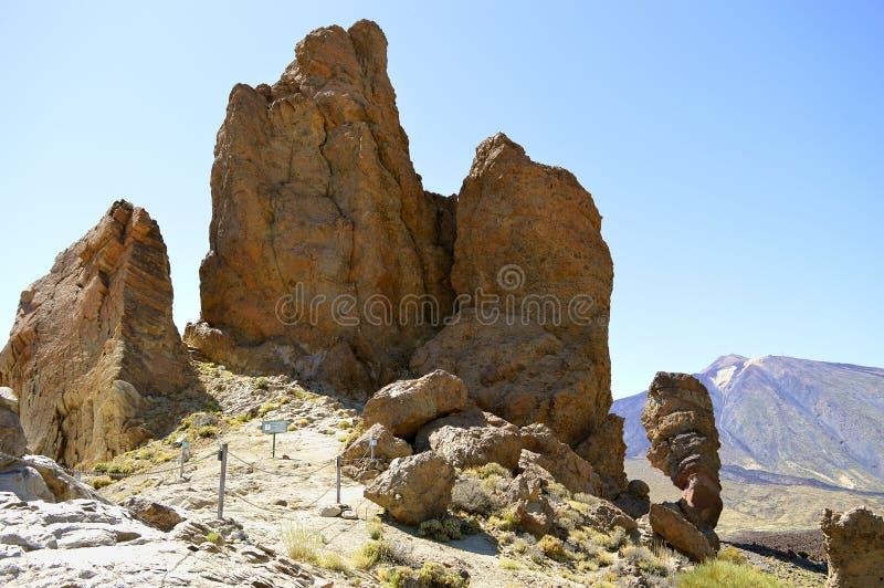 Góry Teide park narodowy Roques De Garcia zdjęcia royalty free