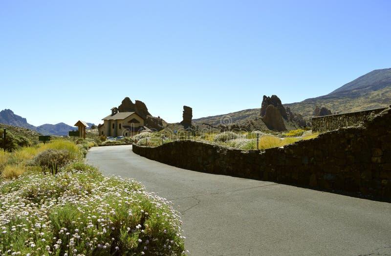 Góry Teide parka narodowego kościół obrazy stock