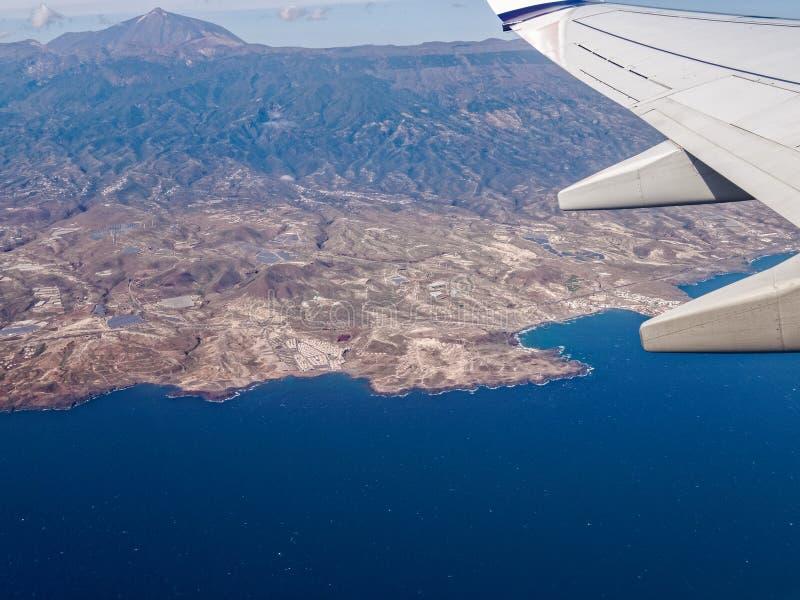 Góry Teide Tenerife antena zdjęcie stock