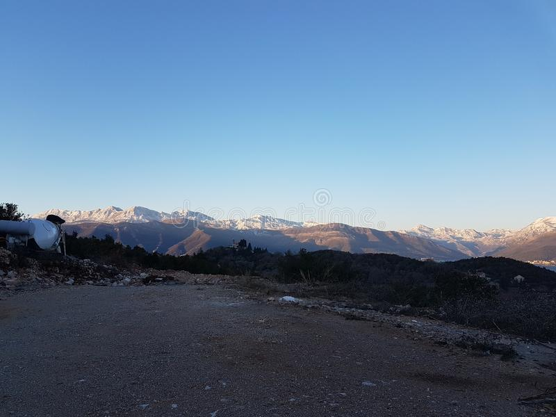 Góry Tivat Montenegro zdjęcia stock