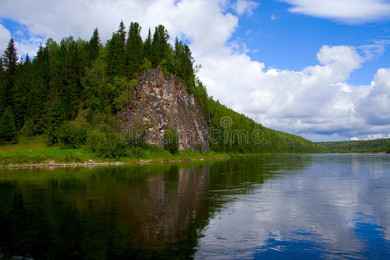 góry ural vishera rzeki zdjęcie stock