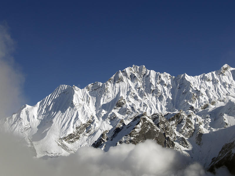Góry w Langtang zdjęcia stock
