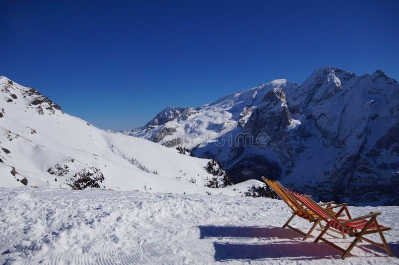 Góry w zimie fotografia royalty free