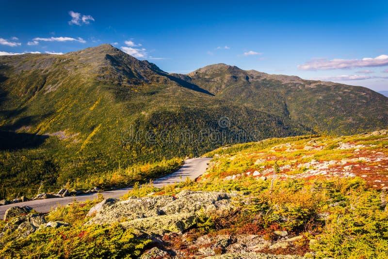 Góry Waszyngtońska Auto droga blisko Gorham, New Hampshire obrazy royalty free