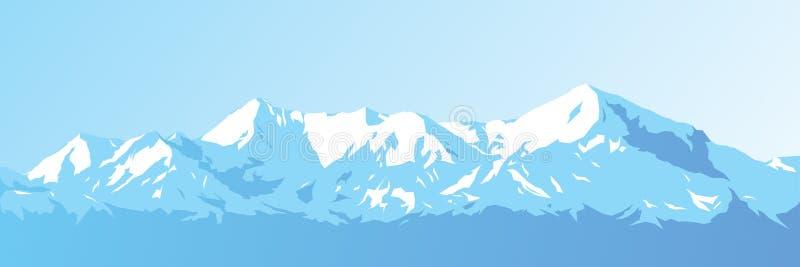 Góry wektorowe royalty ilustracja