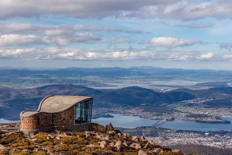 Góry Wellington punktu obserwacyjnego struktura, Tasmania obraz royalty free