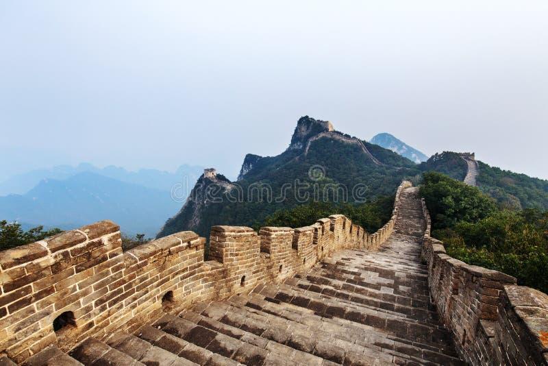 Góry Wielkiego Muru Chińskiego obrazy royalty free
