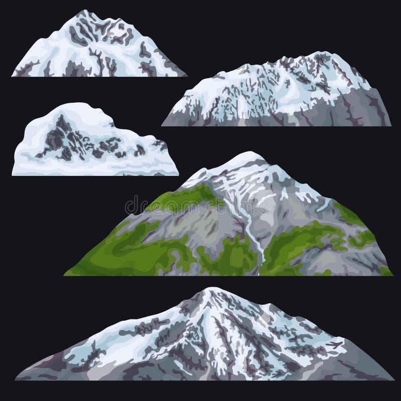 Góry z Śnieżystymi wierzchołkami royalty ilustracja