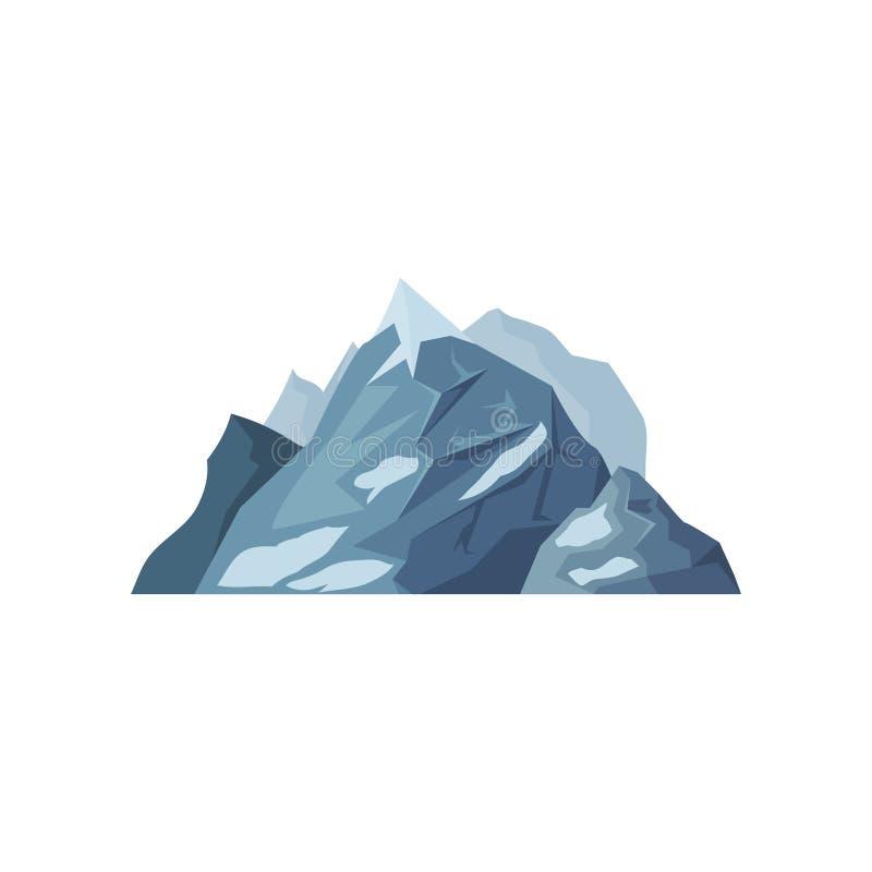 Góry z lodowami, plenerowy projekta element, natura krajobrazu, górzysta wektor ilustracja geologia ilustracji