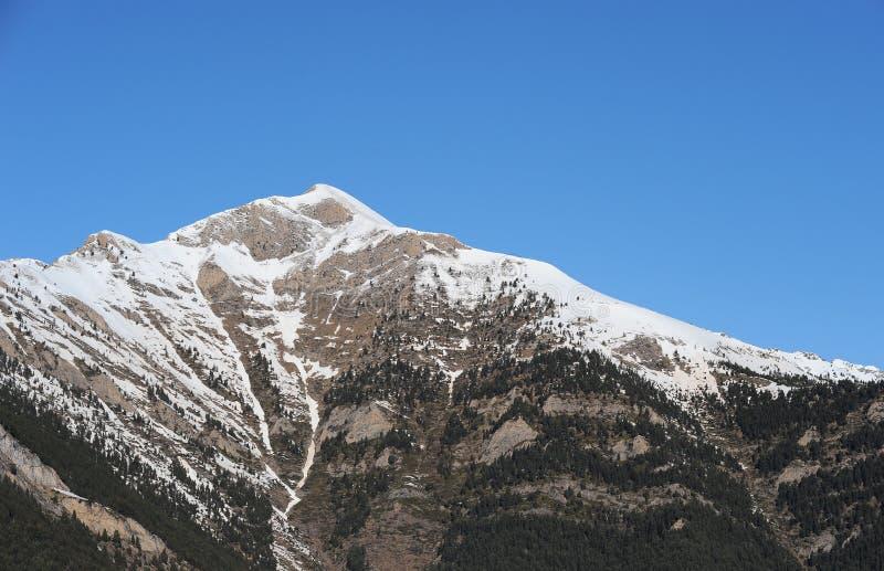 Góry zakrywać z śniegiem w narciarskim terenie VallNord, sektoru kumpel, ksiąstewko Andorra, Europa fotografia stock