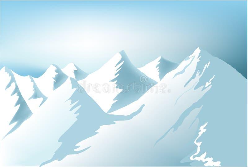 góry zima ilustracja wektor