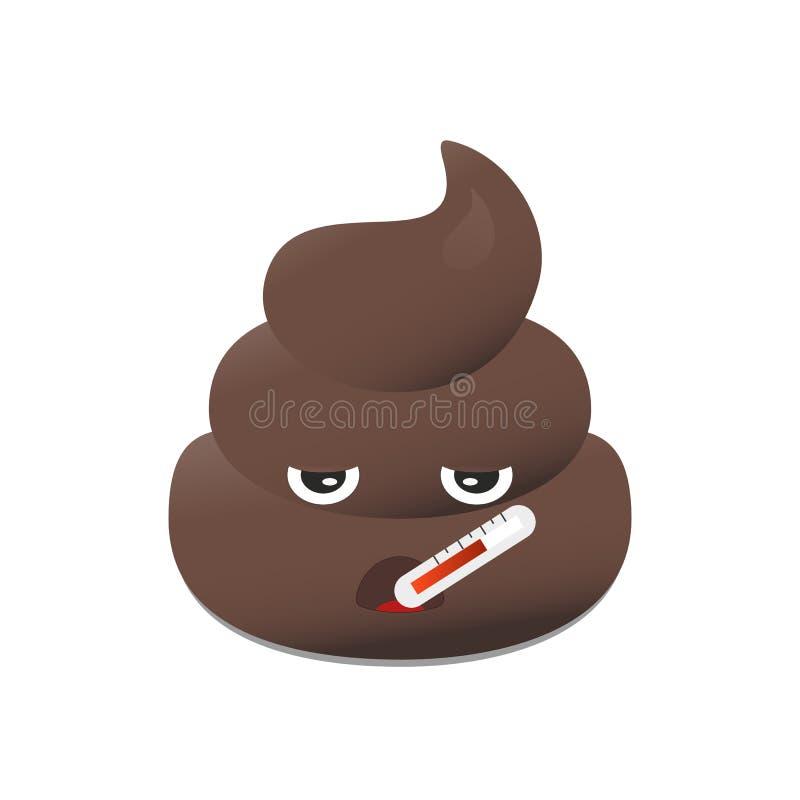 Gówna emoji Poo emoticon Kaku twarz odizolowywająca royalty ilustracja