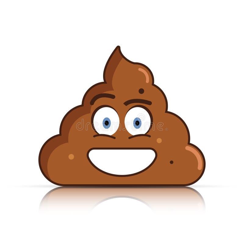 Gówna emoji Poo emoticon Kaku twarz wektor royalty ilustracja
