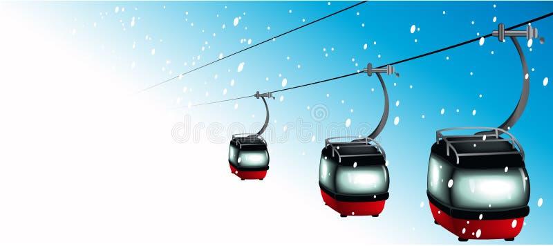 Download Gôndola em cabos aéreos ilustração do vetor. Ilustração de esqui - 16868363