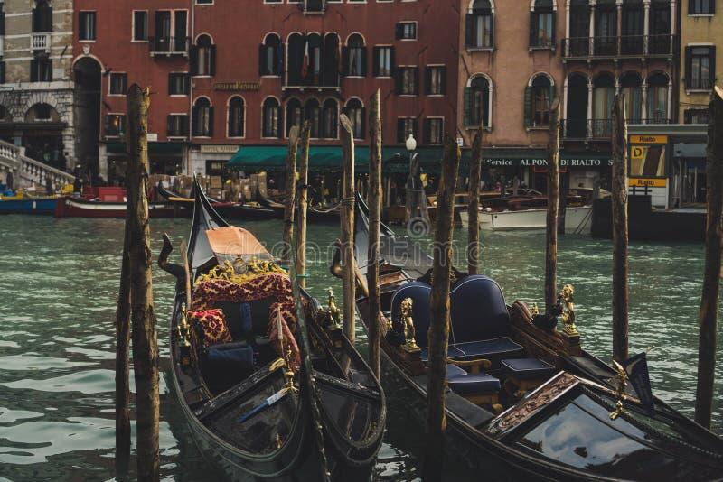 Gôndola nos canais Veneza Europa fotos de stock
