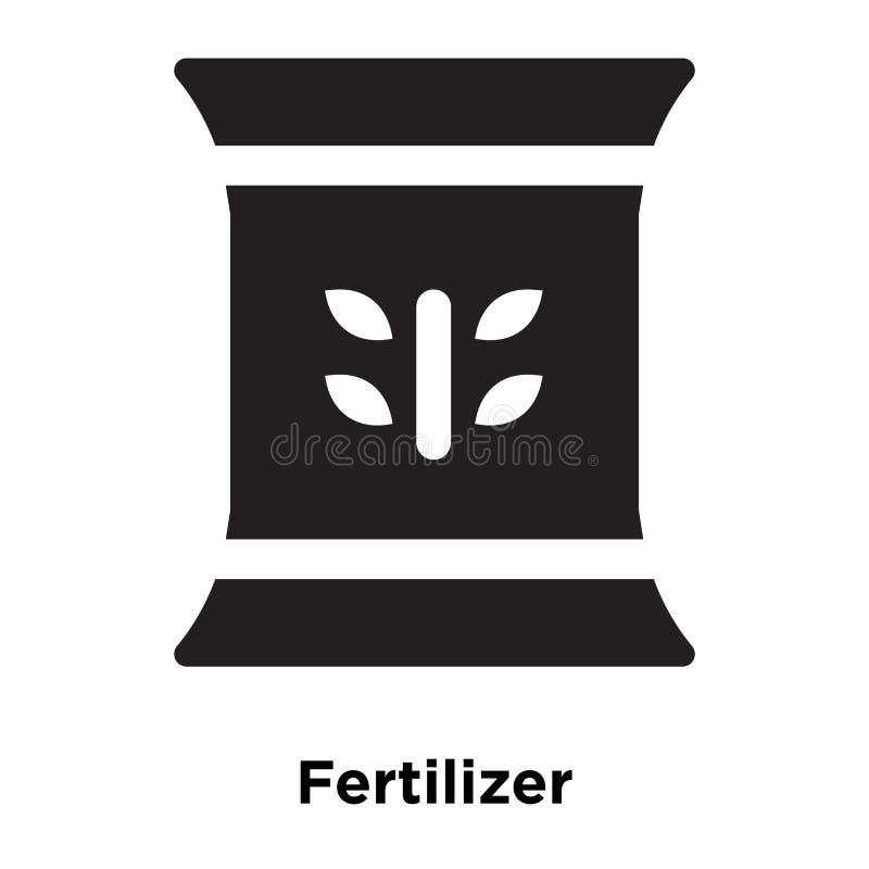 Gödningsmedelsymbolsvektor som isoleras på vit bakgrund, logoconcep vektor illustrationer