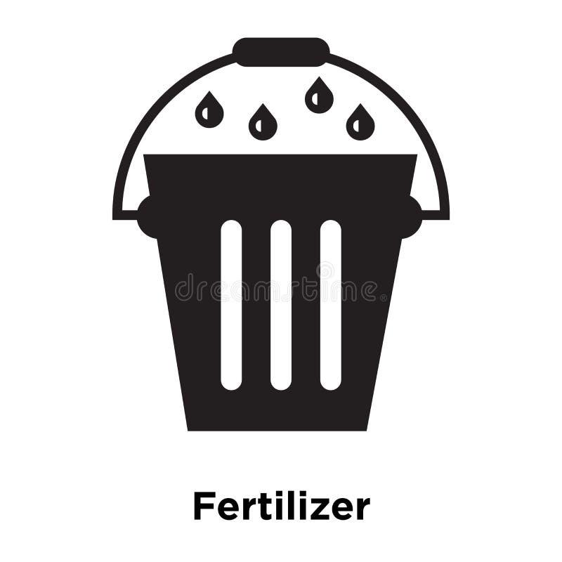 Gödningsmedelsymbolsvektor som isoleras på vit bakgrund, logoconcep stock illustrationer