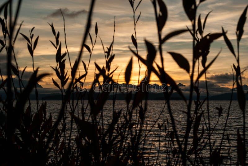 Gömd solnedgång fotografering för bildbyråer